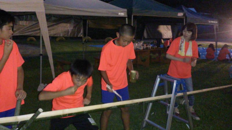6年親子キャンプ始まる