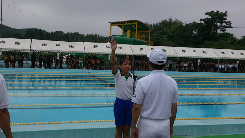 伊佐市水泳記録会